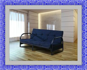 Black futon frame with free mattress and delivery for Sale in McLean, VA