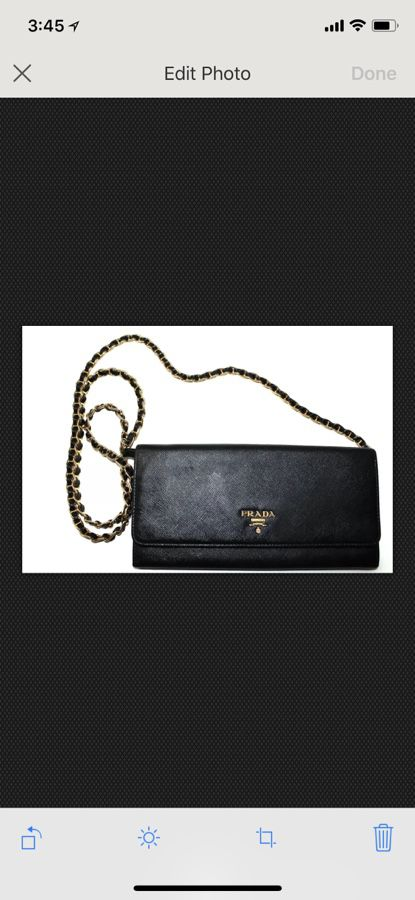 357273ec1eabbe ... uk authentic prada wallet on chain black saffiano leather excellent  condition 875 for sale in parker