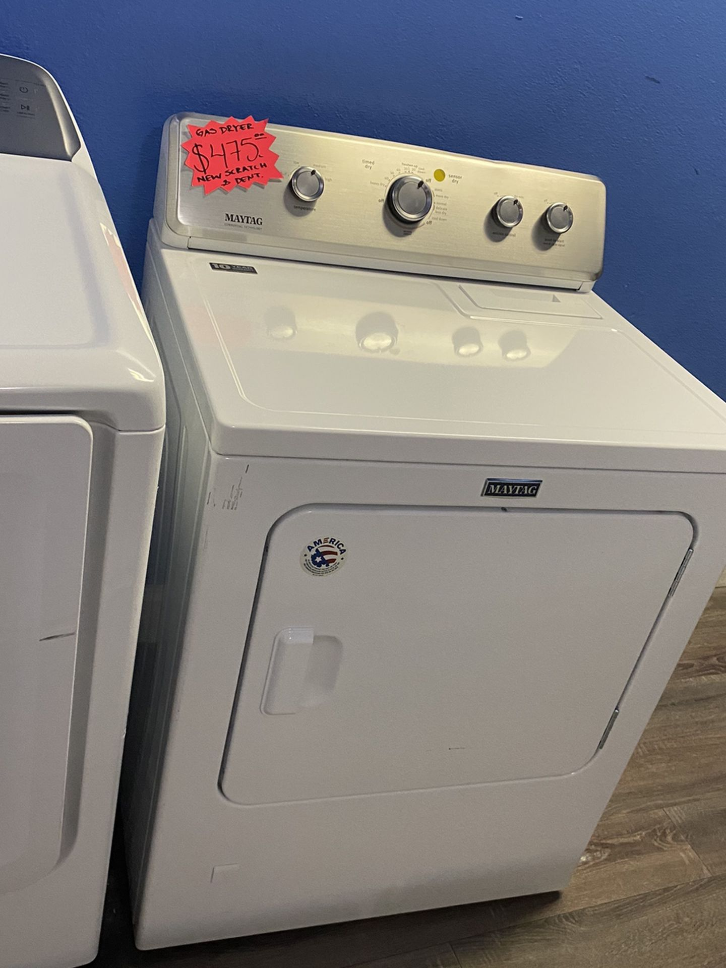 New Scratch And Dent Maytag Gas Dryer With Warranty
