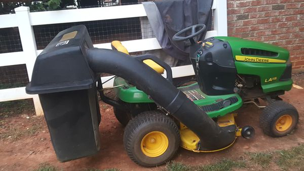 John Deere Lawn Tractor, LA116,bagger, mulch and throw accessories, new  deck and carburetor, 100 hours of use for Sale in Waxhaw, NC - OfferUp