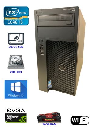 Entry Level Gaming Dell Precision T1650 i5-3550 3.30GHz / 16GB RAM / 500GB SSD / 2TB HDD for Sale in Franklin, WI