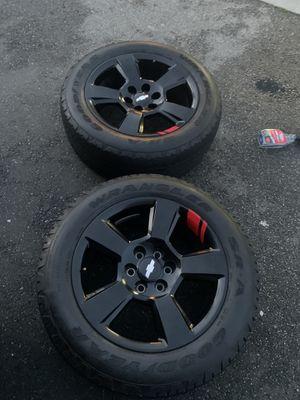 "Photo Chevy Silverado Redline Edition 2018 Wheels Rims Tires Rines Tahoe Suburban 20"""