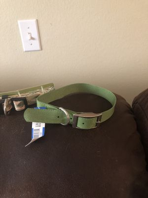 Large Dog collars in Green and Camo for Sale in CHAMPIONS GT, FL