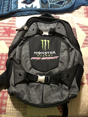 Brand new monster backpack 25 cash paid 110 really nice for a motorcycle just got padding on the back in case you were to fall for Sale in Martinsburg, WV