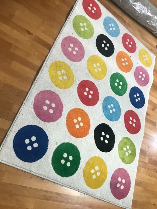 "Ikea TASTRUP Multicolor Button Rug. 6 ' 5 "" x 4 ' 4 "" for ..."