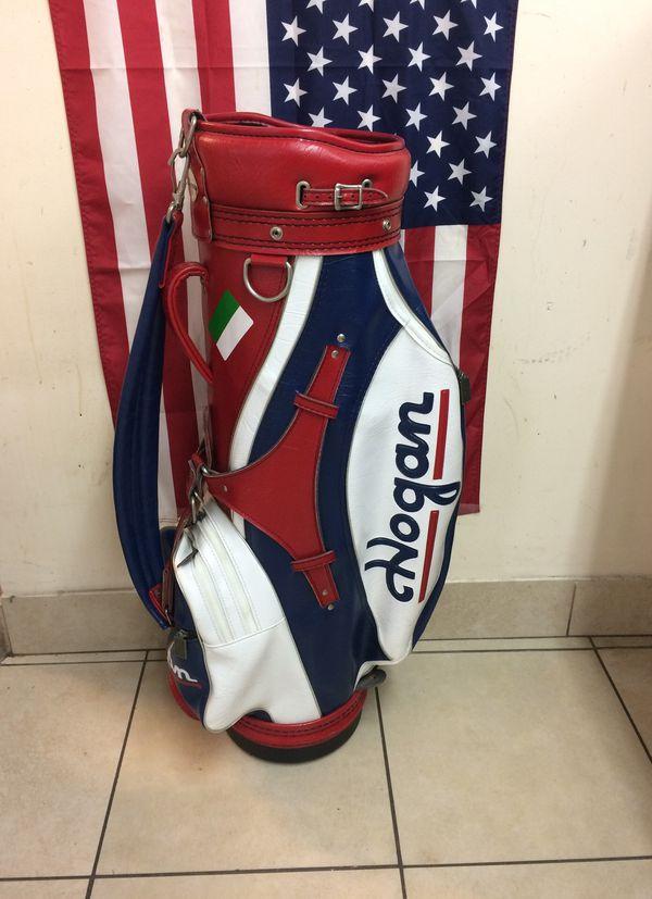 Vintage Ben Hogan Golf Staff Bag Red