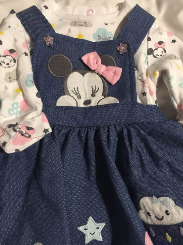 df38cdf1bec5 infant girl Disney Minnie Mouse overall dress 3-6 mon for Sale in Paramount