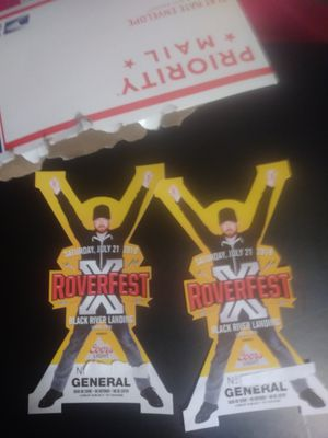 2 tickets to rover fest for Sale in Cleveland, OH
