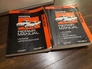 Photo 1989 Toyota pickup factory manuals