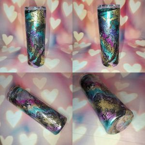 Photo Stainless Steel Glitter Tumbler