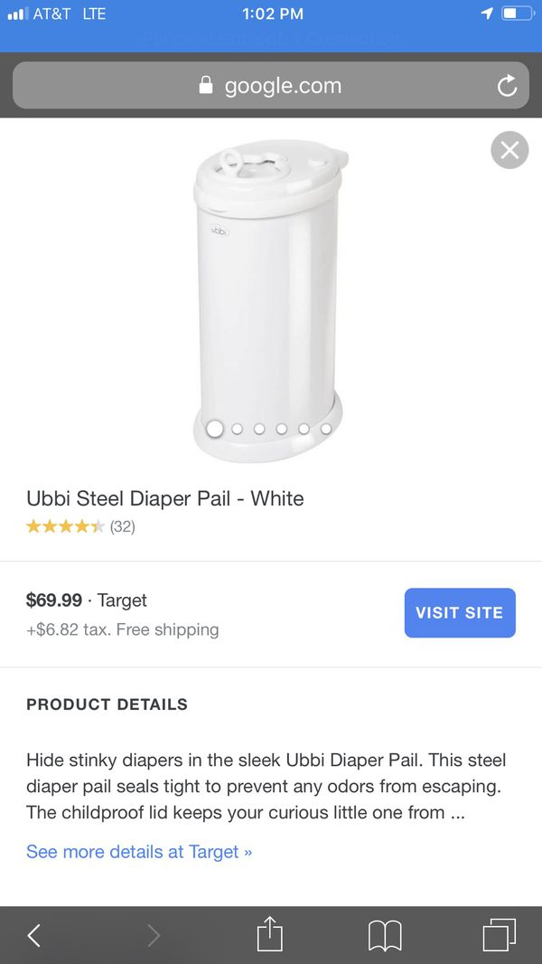 Ubbi diaper pail brand new for Sale in Cleveland, TN - OfferUp