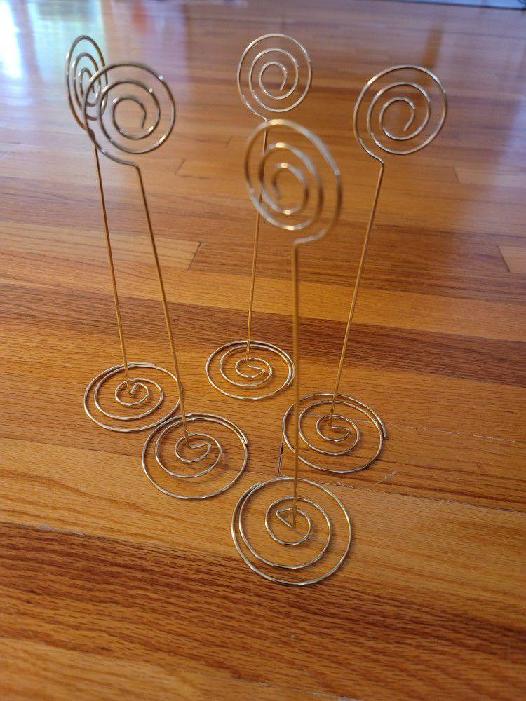 Wedding Table Number Holder -Gold