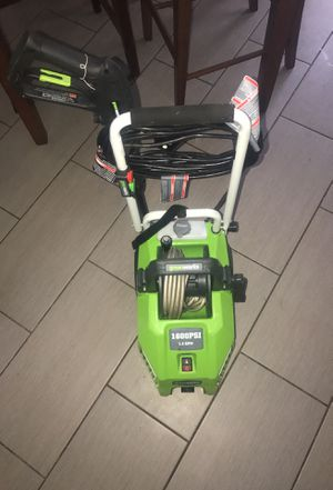 Green Works pressure washer 1600 psi 1.3 gpm for Sale in Upper Marlboro, MD