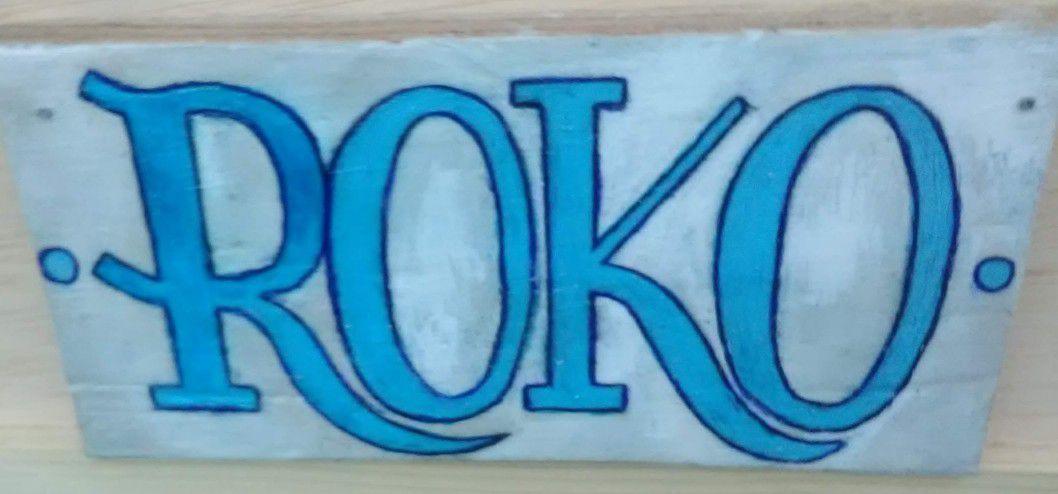 Custom Dog House Name Plates