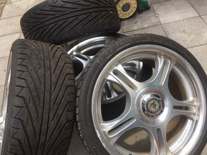 """17"""" American Racing Wheels Rims 4 lug 4x114.3 4x100 Universal Civic Accord for Sale in Colesville, MD"""
