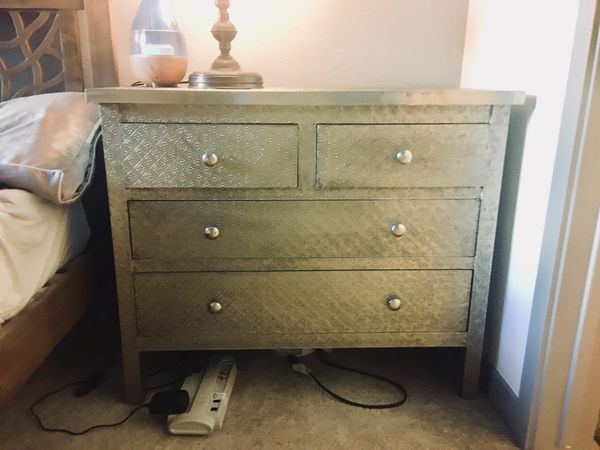 Cost Plus World Market Kiran Embossed Metal Dresser For Sale In Boulder CO