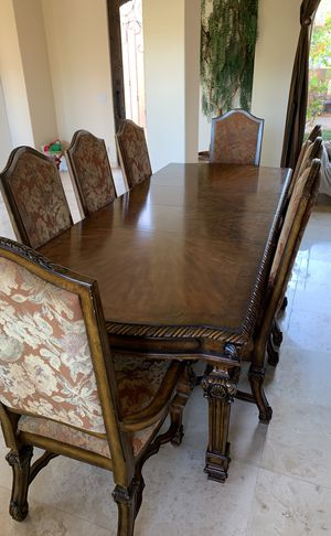 Casa Grande Az Dining Table With 8 Upholstered High Back Chairs From Ashley Furniture For In