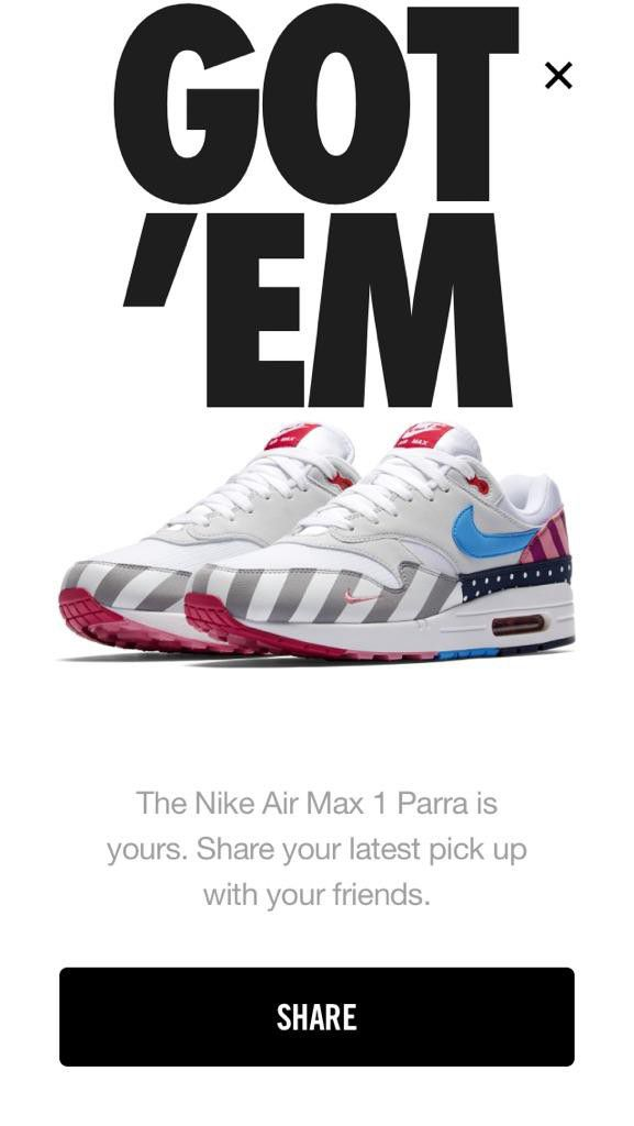 8b4e69ed15cda Nike Air Max 1 Parra Size 11 for Sale in Fairview, OR - OfferUp