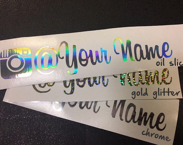 Custom instagram name decals arts crafts in fremont ca offerup