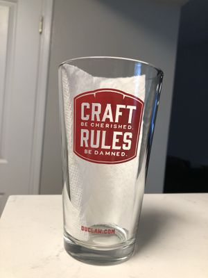"""DuClaw """"Craft Rules"""" Collectible Glasses (set of 2) for Sale in Pasadena, MD"""