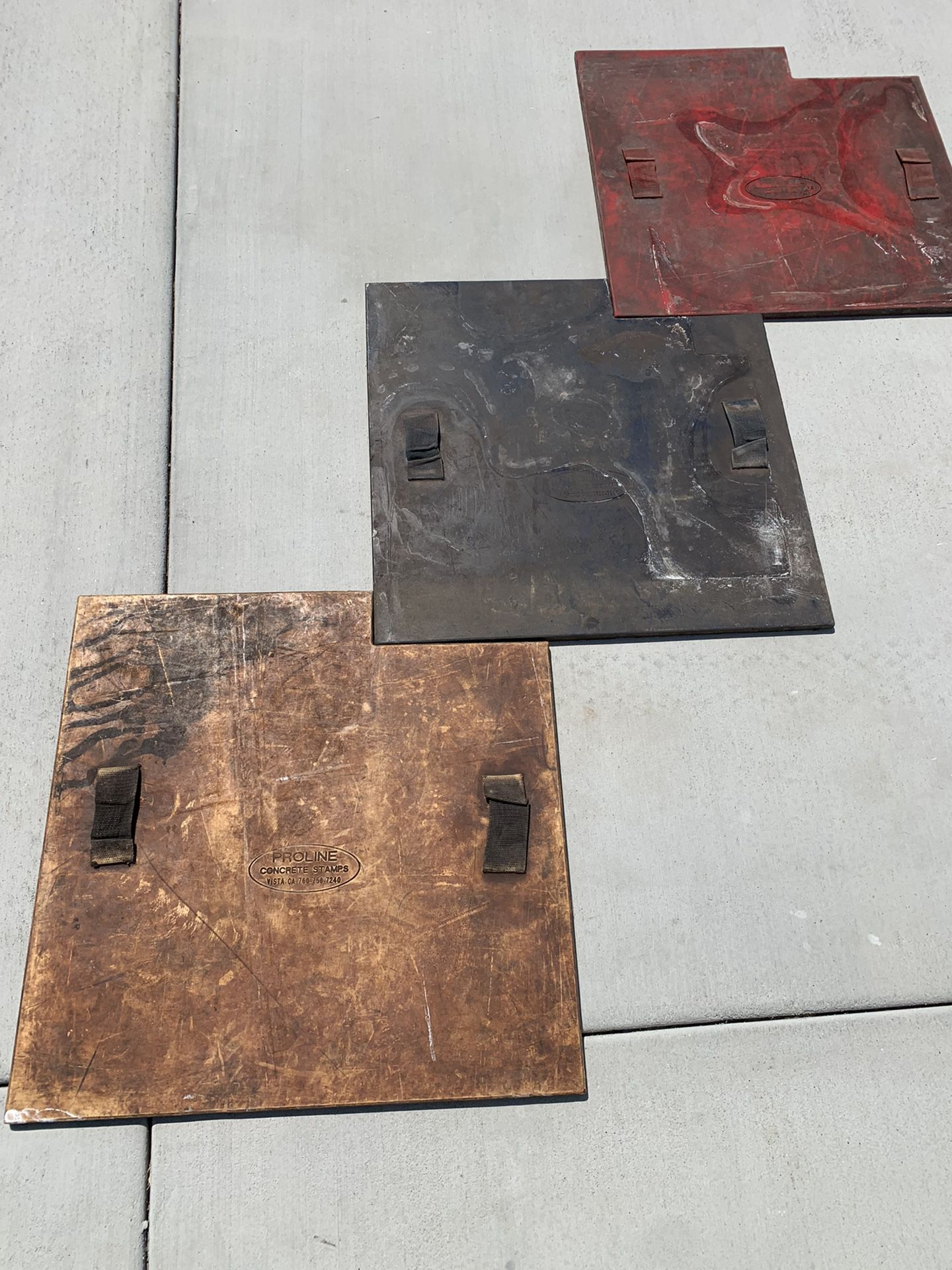 """Pro Line 24""""Ashlar Slate with Okd Granite texture concrete Stamps , Set of 12 Plus One Flex and Two 24"""" skins"""