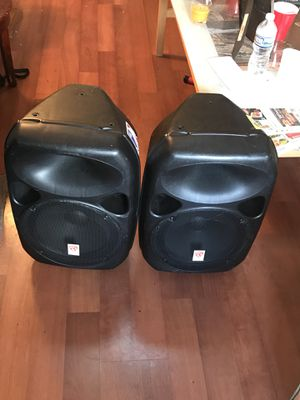 (2) 12' DJ speakers with 2 tripod speaker stands for Sale in Silver Spring, MD