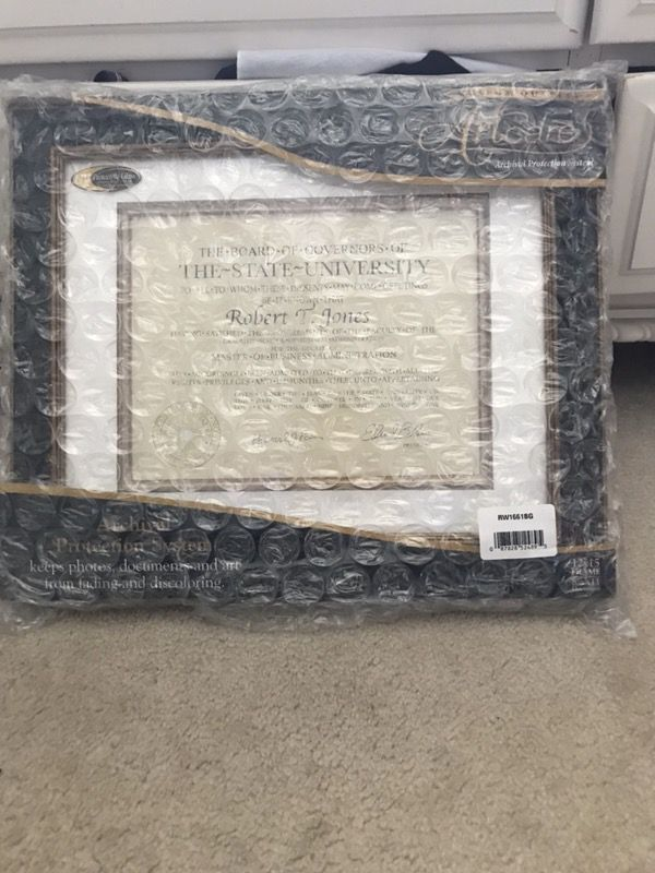 Artcare frame for diploma (Photography) in East Amherst, NY - OfferUp