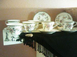Photo Bone China tea cup set
