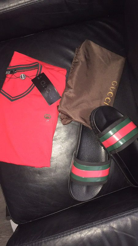 d2f772751 Gucci slides and shirt for Sale in Boynton Beach, FL - OfferUp
