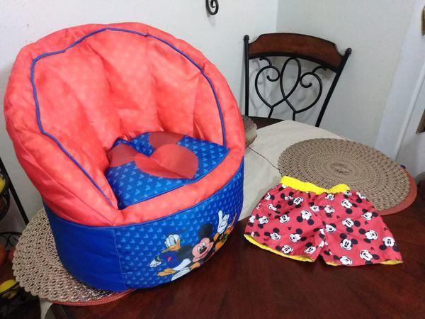 Groovy Disney Toddler Chair Bean Bag Kids Infant Mickey Mouse Customarchery Wood Chair Design Ideas Customarcherynet