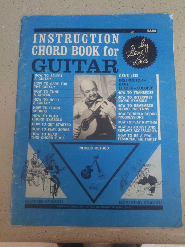 Instruction Chord Book for Guitar By Gene Leis Nexsus Method 1964 ...