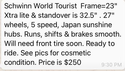 Schwinn World Tourist Thumbnail