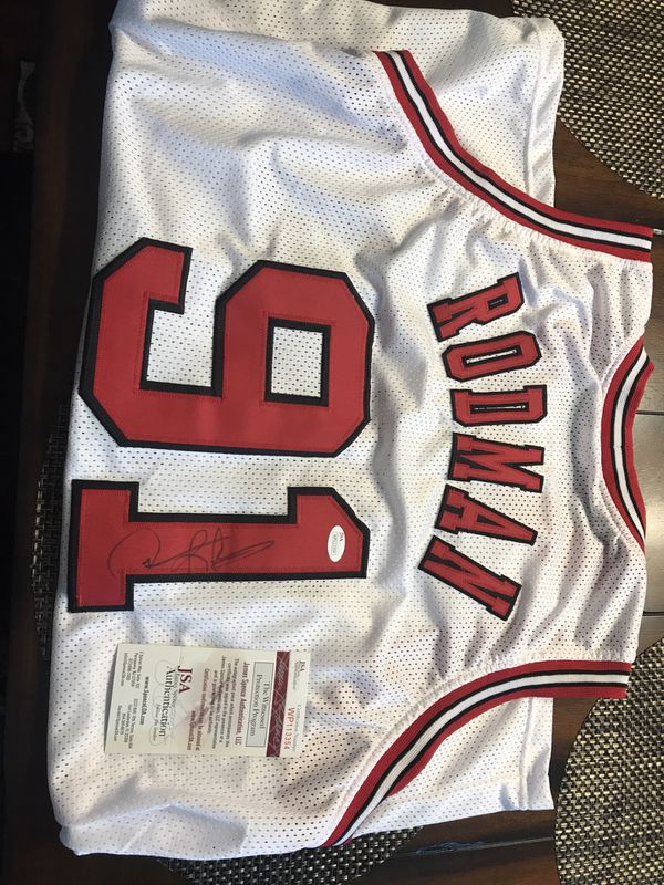 super popular e5000 7d057 Dennis Rodman autographed jersey with certificate of authenticity for Sale  in LaGrange, OH - OfferUp