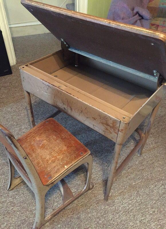 - 1960's Vintage School Desk. For Sale In Schnecksville, PA - OfferUp