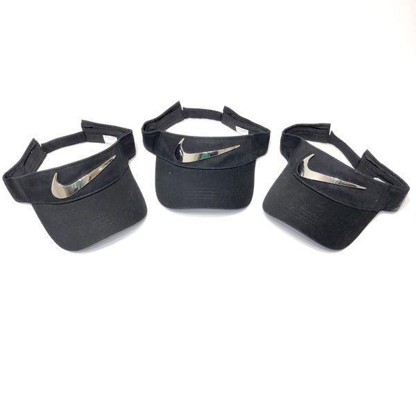 Custom silver swoosh Nike visors for Sale in Lombard 0ebbf4df8a0