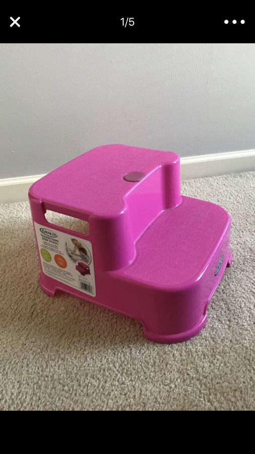 Peachy Graco Transitions Step Stool Pink 5 For Sale In Bralicious Painted Fabric Chair Ideas Braliciousco