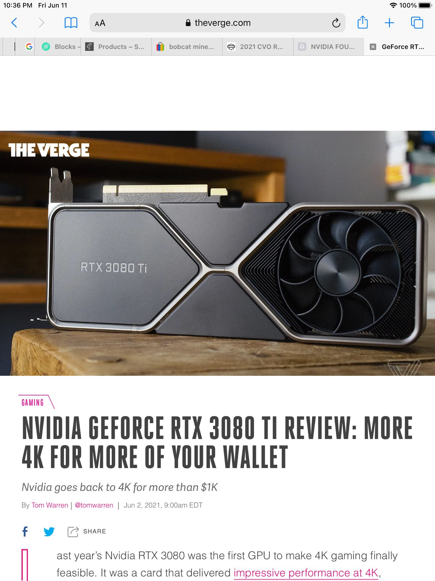 Trade NVIDIA FOUNDERS GEFORCE RTX 3080 TI For 3080