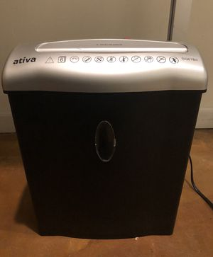 ATIVA SMALL DIAMOND-CUT SHREDDER!!!!!🖤📄🖤📄💟📎 for Sale in San Francisco, CA