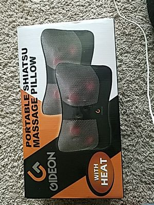 Gideon Portable Shiatsu Massage Pillow with Heat for Sale in Fairfax, VA