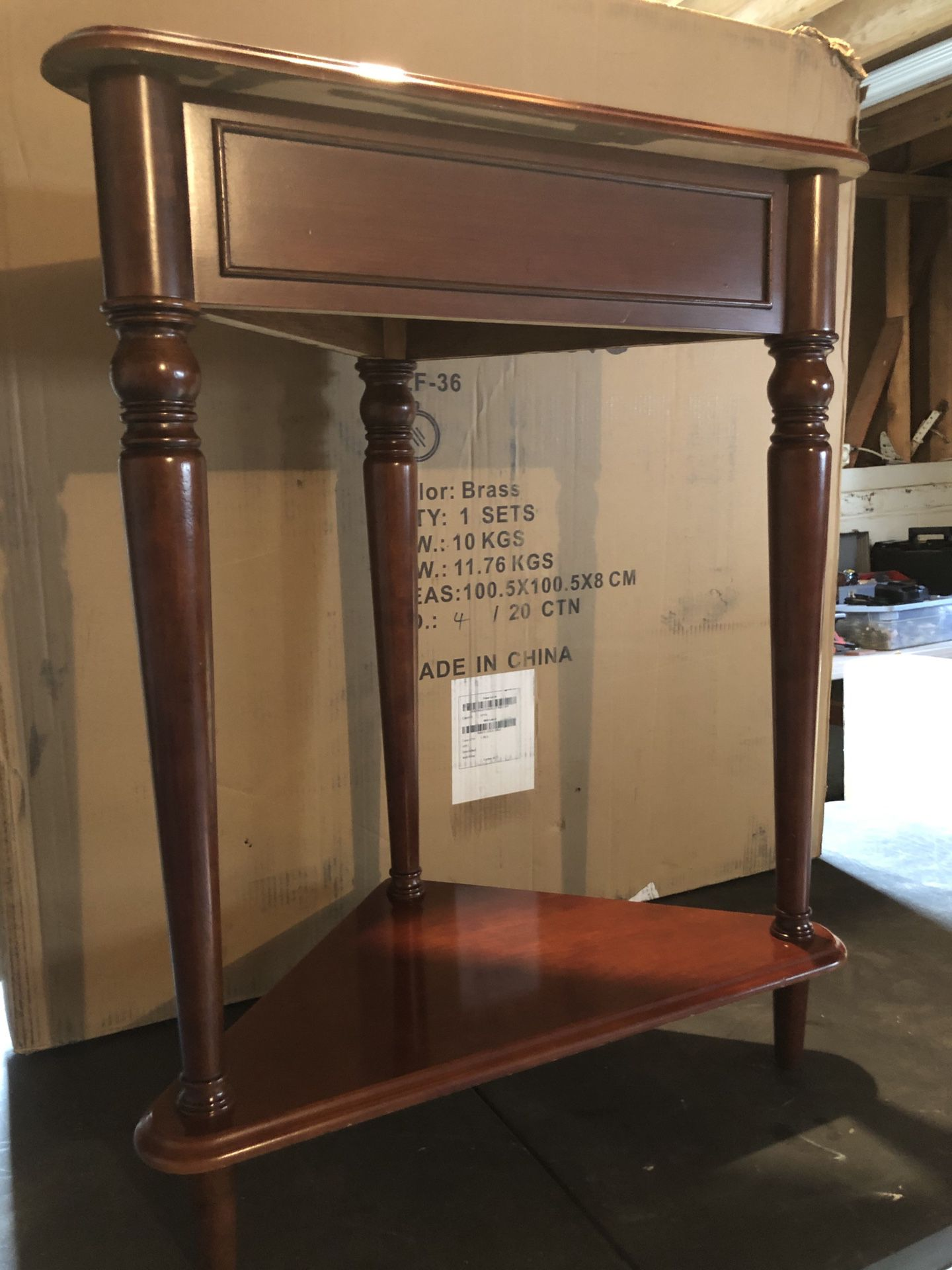 All wood Cherry Accent Table