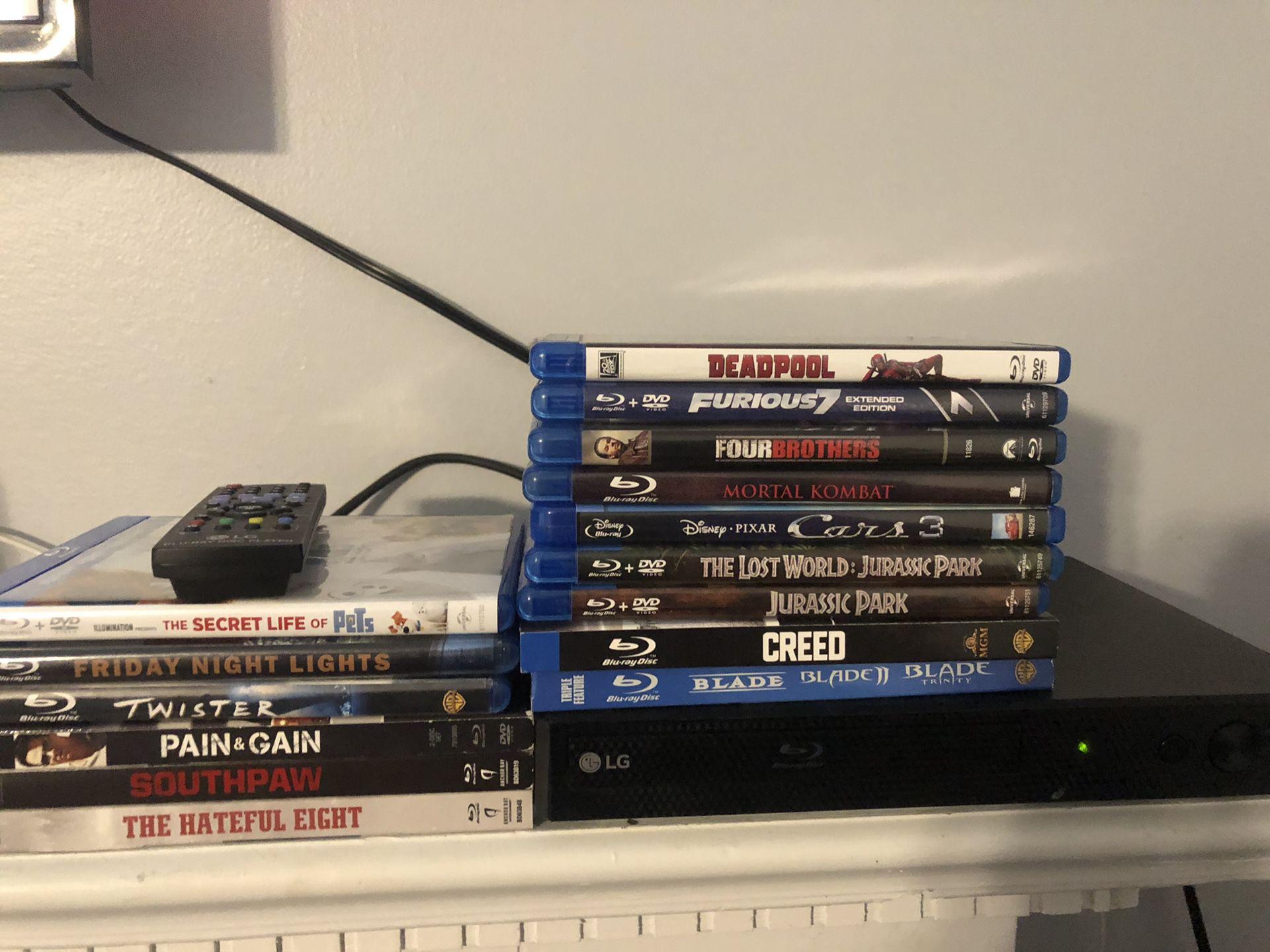 LG Blu-Ray Player & Blu-ray Movies