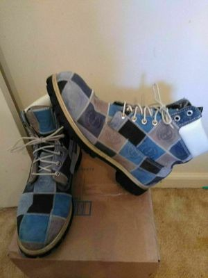 Men's Timberland boots blue patchwork sz 12 for Sale in Rustburg, VA