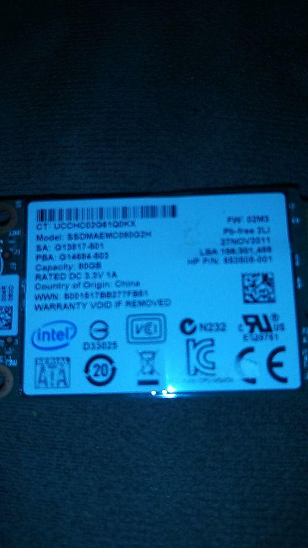 Intel 80gb Msata Ssd Mini Pcie Solid State Drive Ssdmaemc080g2h Las Vegas
