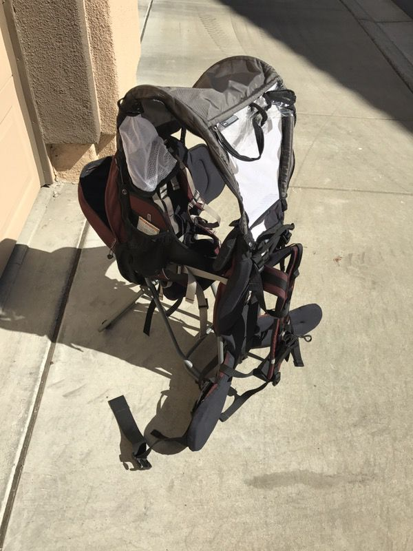 f05c848c0ca REI Piggyback Baby Child Carrier Camping Hiking Backpack Maroon Like New  Used 1 time