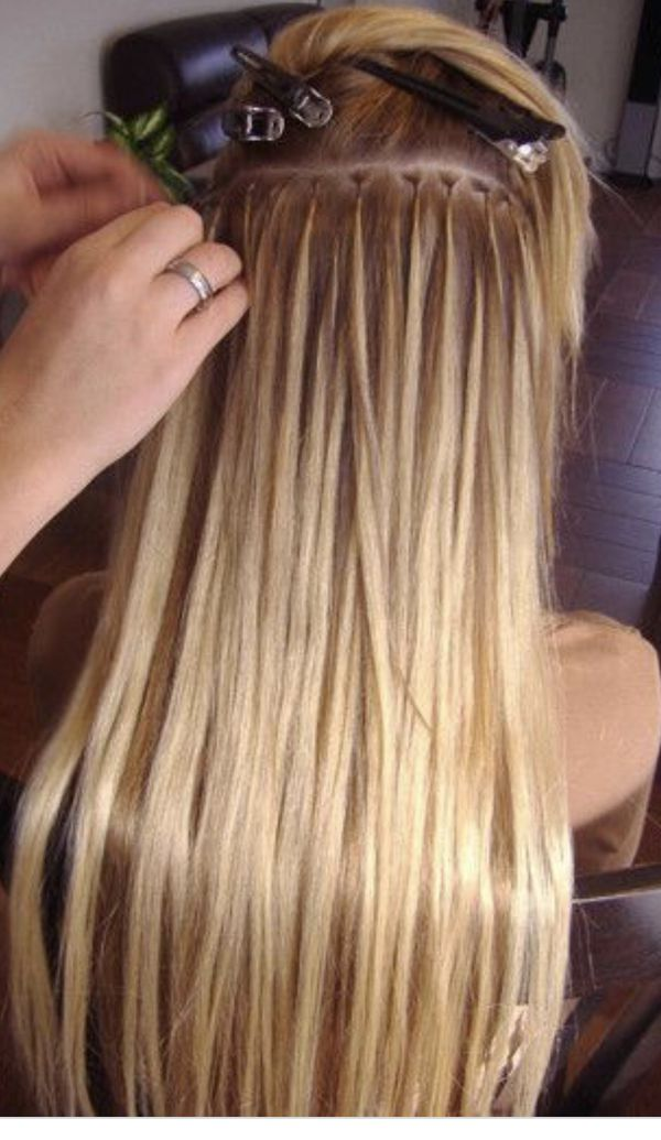 Microbead Hair Extensions Application Beauty Health In Houston