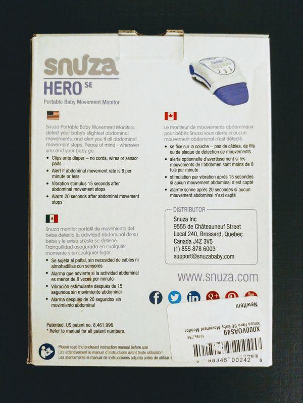 New Snuza Hero Se Portable Baby Movement Monitor For Sale In Monroe