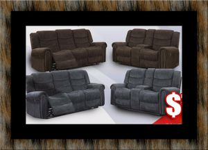 Grey or chocolate recliner set for Sale in Lanham, MD