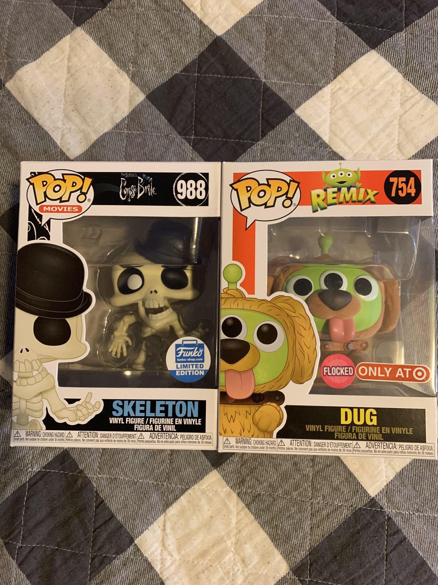 Skeleton and Dug funko pop