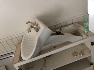 Pedestal sink with nice faucet for Sale in Atlanta, GA
