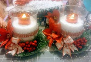 Christmas candle holders for Sale in OH, US